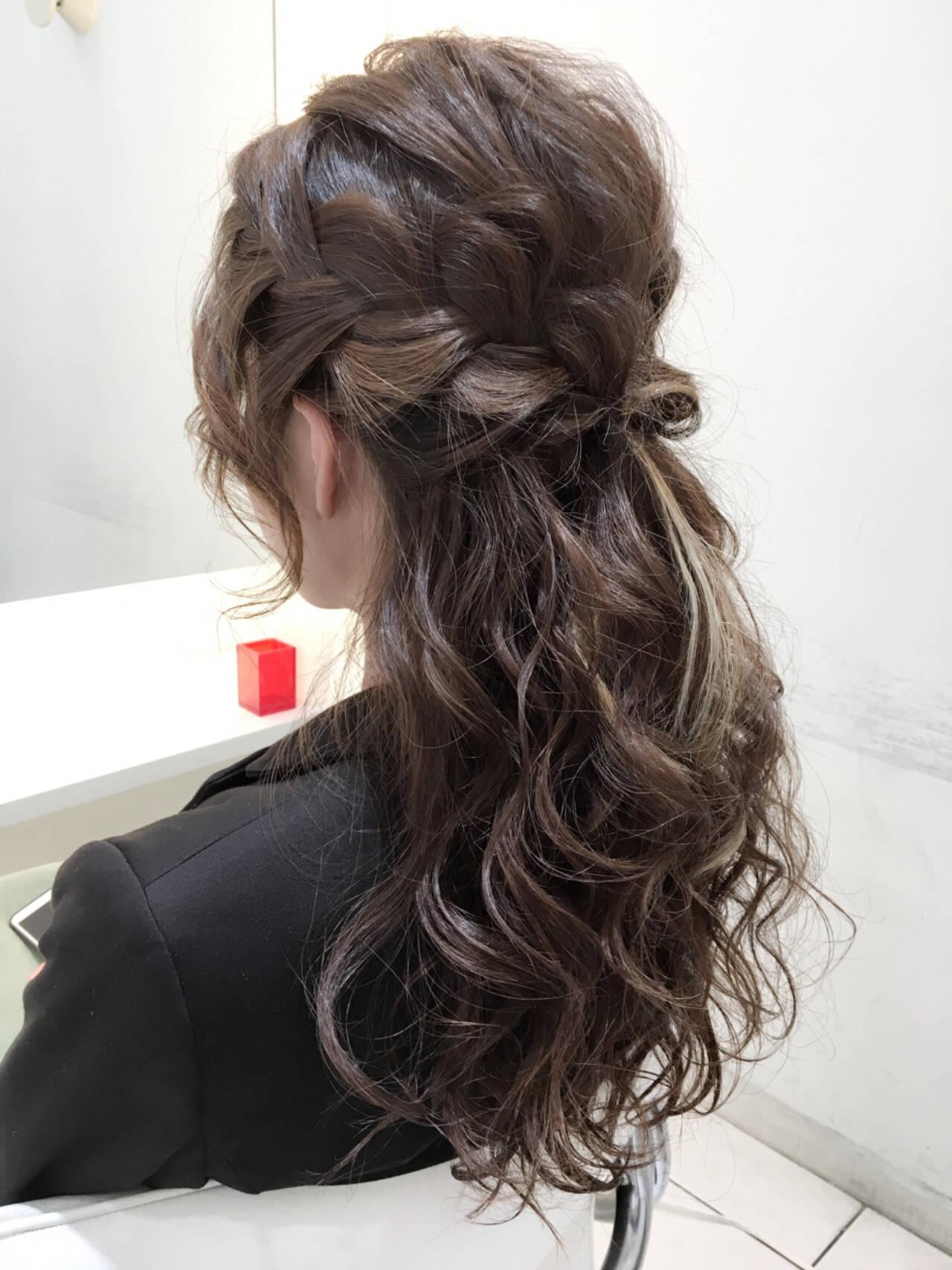 簡単ヘアアレンジ ショート 編み込み ヘアアレンジヘアスタイルや髪型の写真・画像