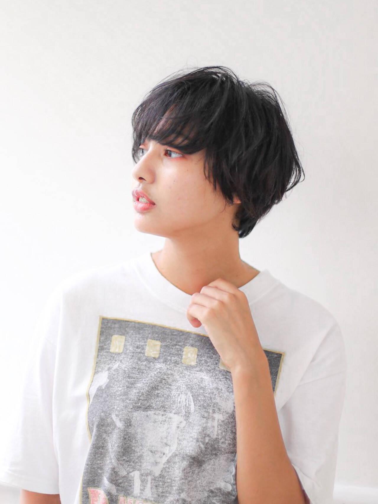 ショート モテ髪 クール 可愛いヘアスタイルや髪型の写真・画像