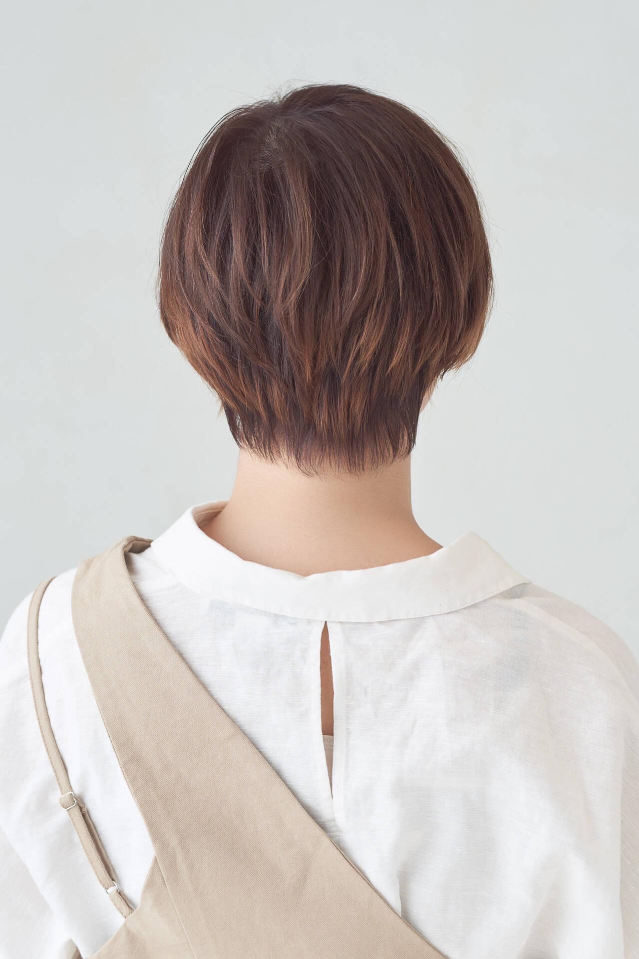 ショートボブ ゆるナチュラル ショート ガーリーヘアスタイルや髪型の写真・画像