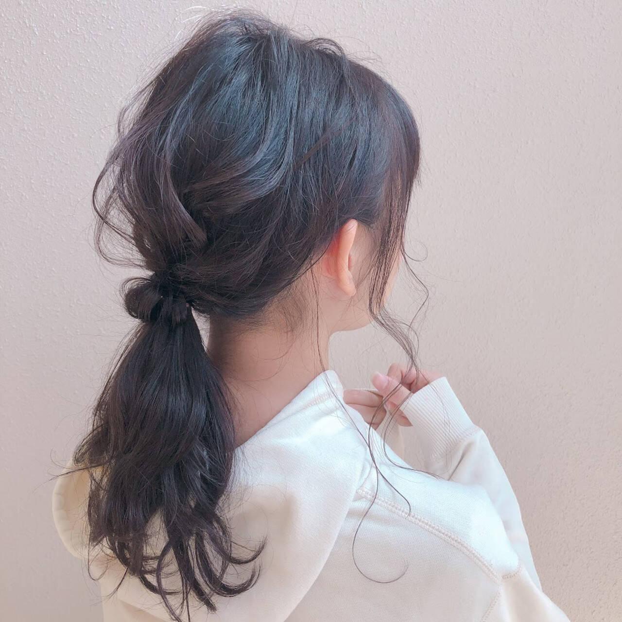 ヘアセット ふわふわヘアアレンジ ナチュラル ヘアアレンジヘアスタイルや髪型の写真・画像