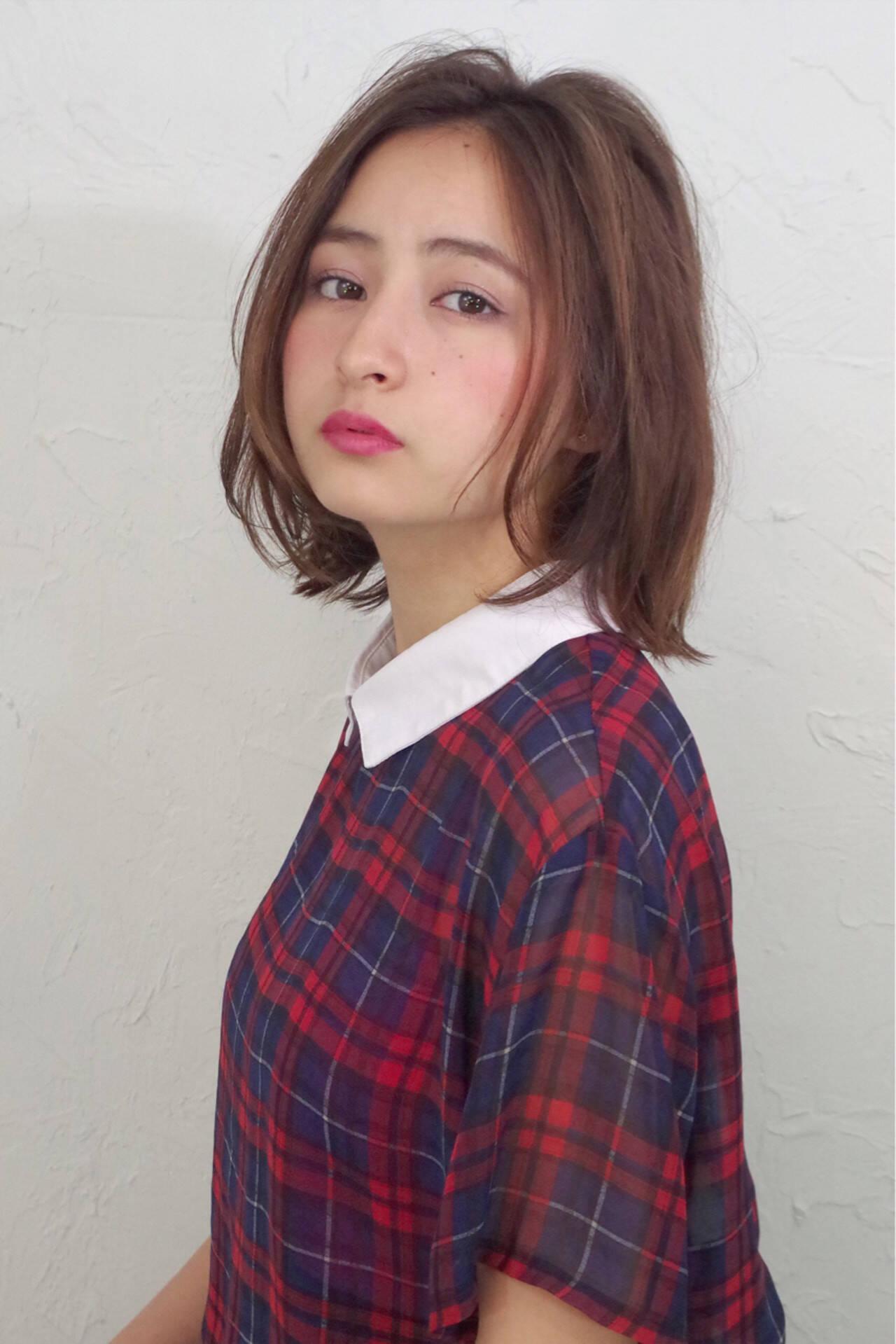 ナチュラル 外国人風 大人かわいい ストレートヘアスタイルや髪型の写真・画像