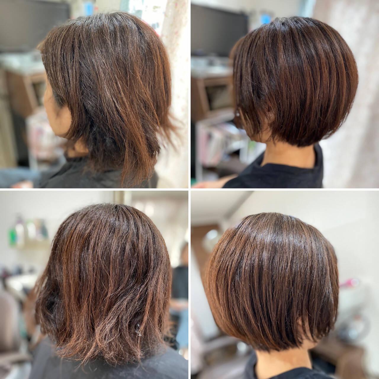 ベリーショート ミニボブ ショートボブ ボブヘアスタイルや髪型の写真・画像