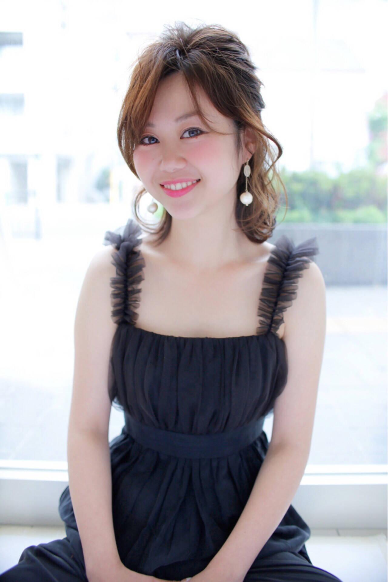 小顔 ピュア コンサバ 似合わせヘアスタイルや髪型の写真・画像