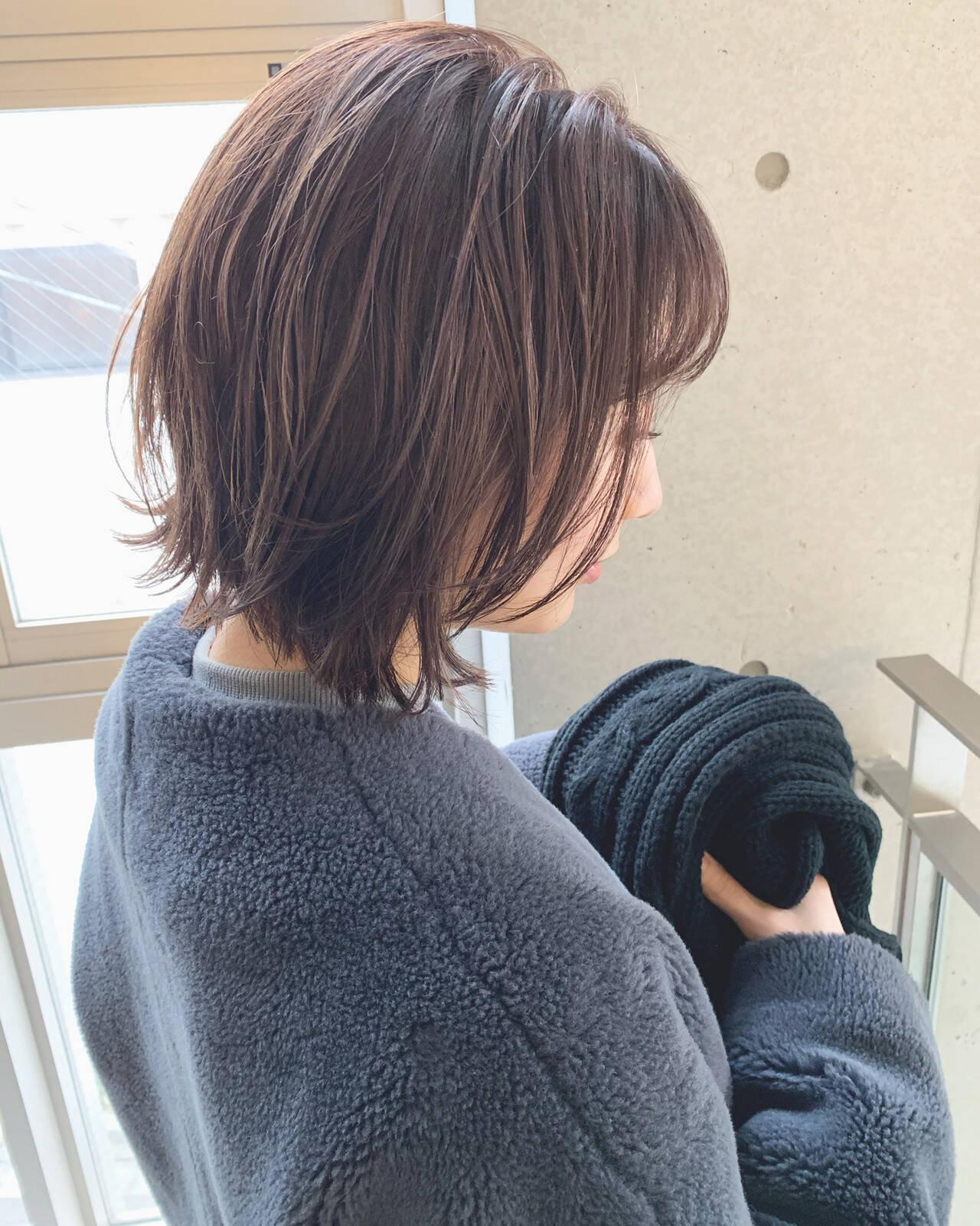 モテボブ ボブ 切りっぱなしボブ ナチュラルヘアスタイルや髪型の写真・画像