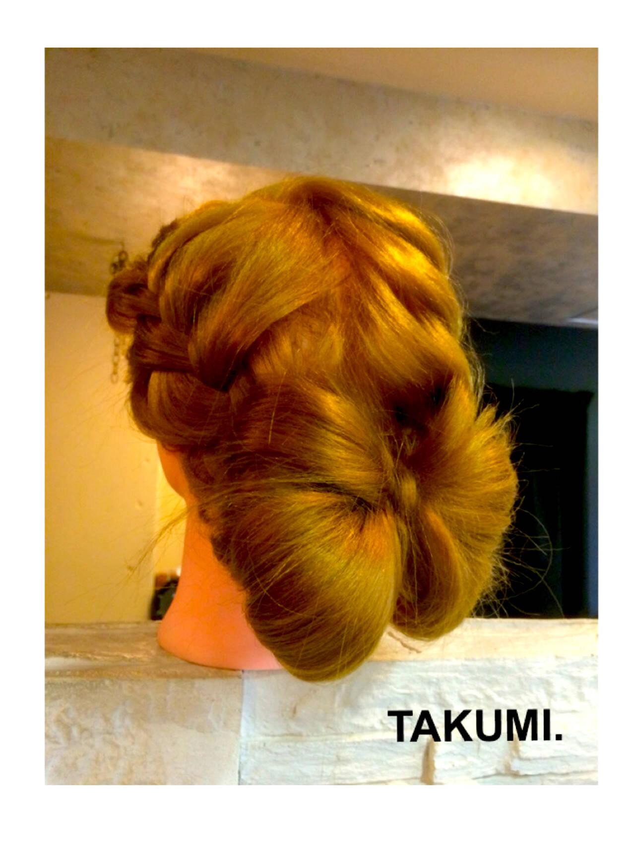 簡単ヘアアレンジ 外国人風 ヘアアレンジ 編み込みヘアスタイルや髪型の写真・画像