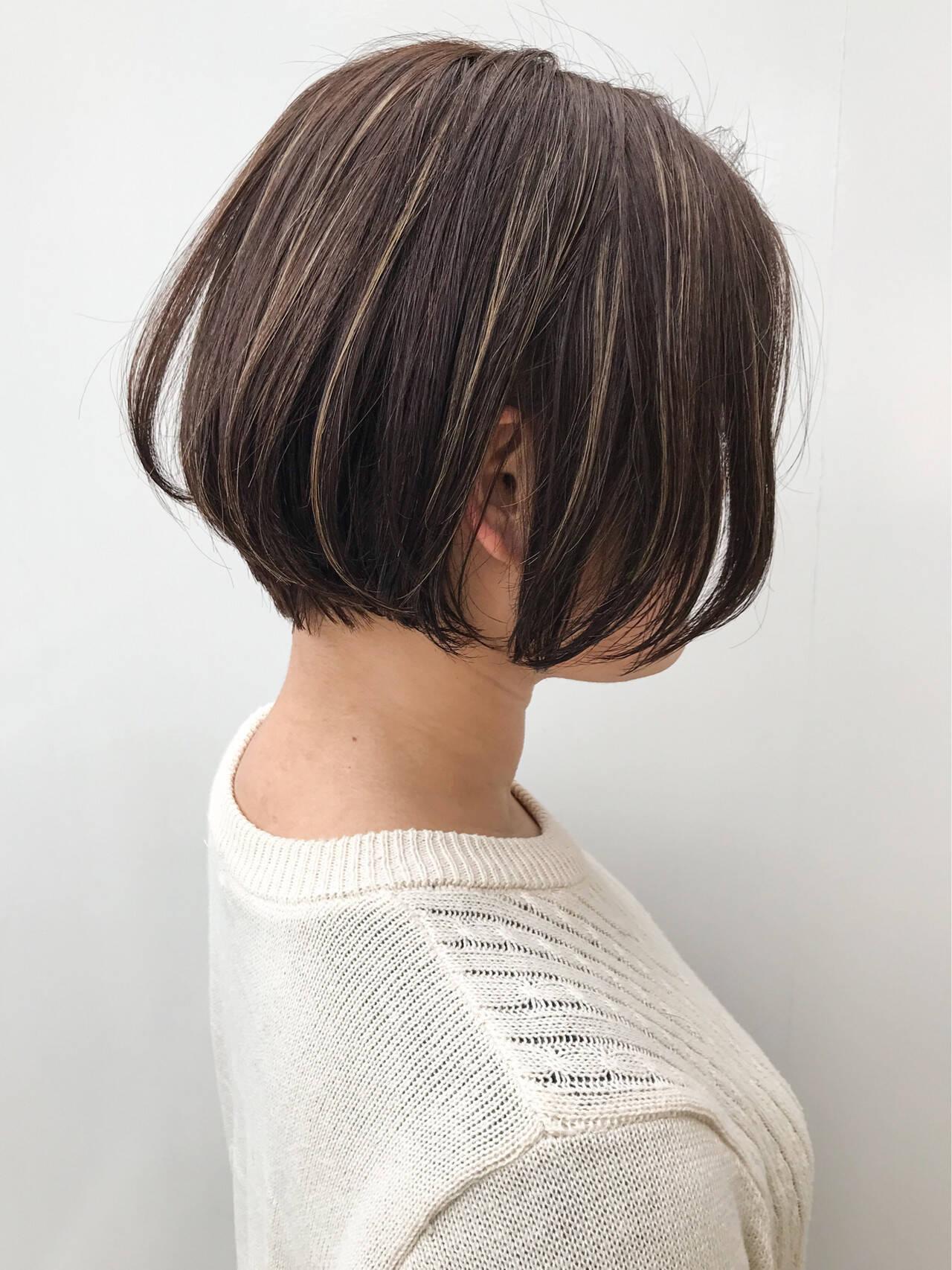 女子力 大人かわいい ハイライト ナチュラルヘアスタイルや髪型の写真・画像