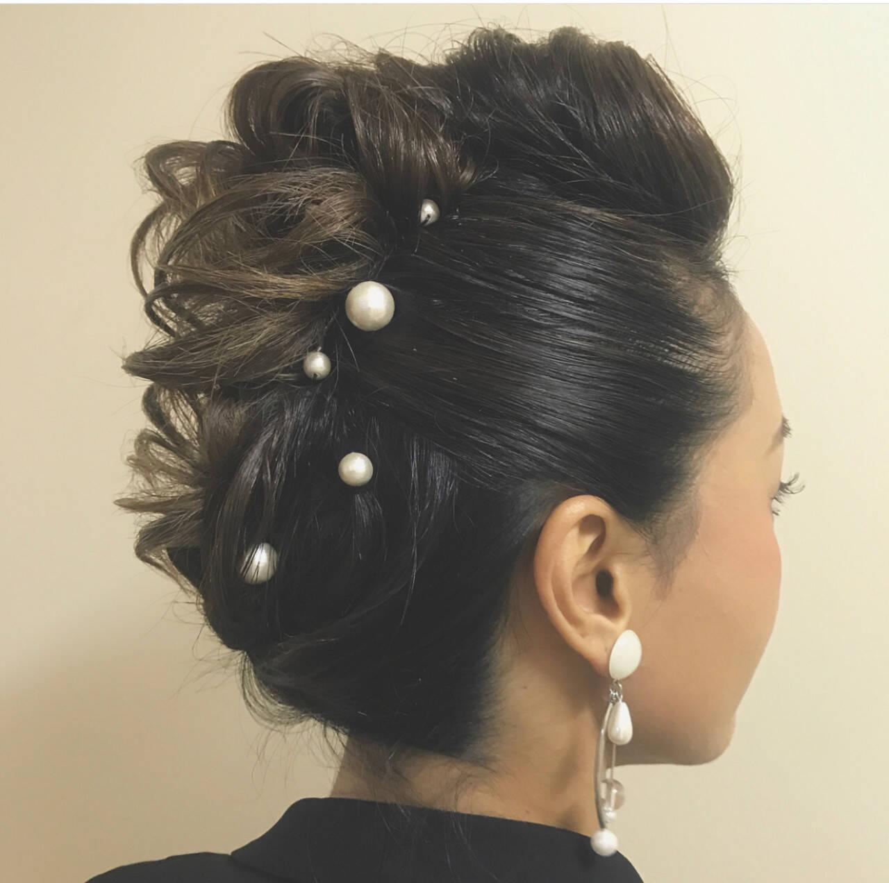 結婚式 お呼ばれ 福岡市 ヘアアレンジヘアスタイルや髪型の写真・画像