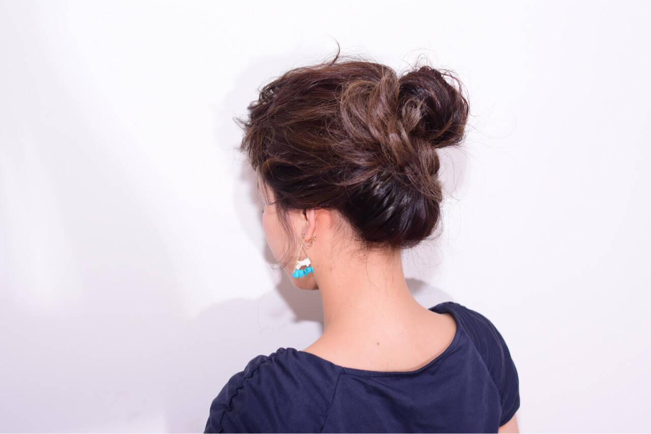 外国人風 ヘアアレンジ 大人女子 簡単ヘアアレンジヘアスタイルや髪型の写真・画像