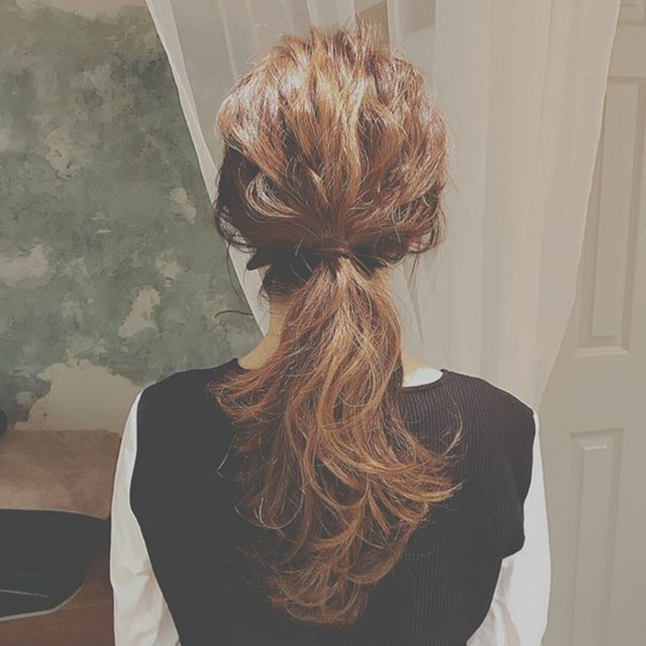 フェミニン 大人かわいい デート ヘアアレンジヘアスタイルや髪型の写真・画像