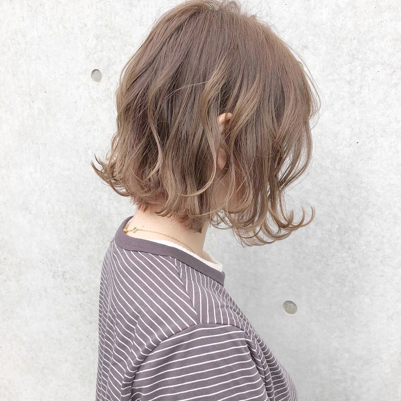 ボブ オフィス デート ナチュラルヘアスタイルや髪型の写真・画像