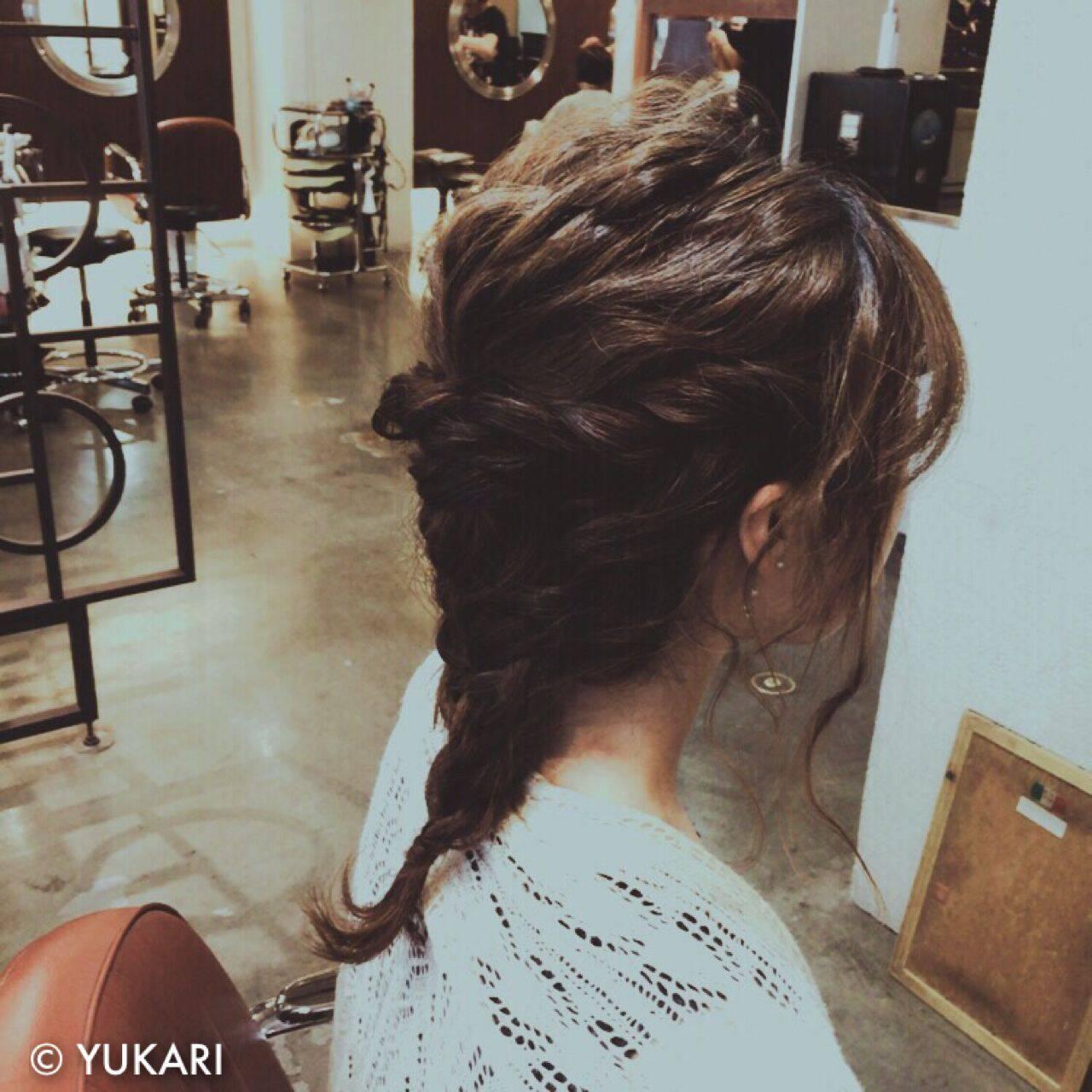 ショート 波ウェーブ アップスタイル ヘアアレンジヘアスタイルや髪型の写真・画像