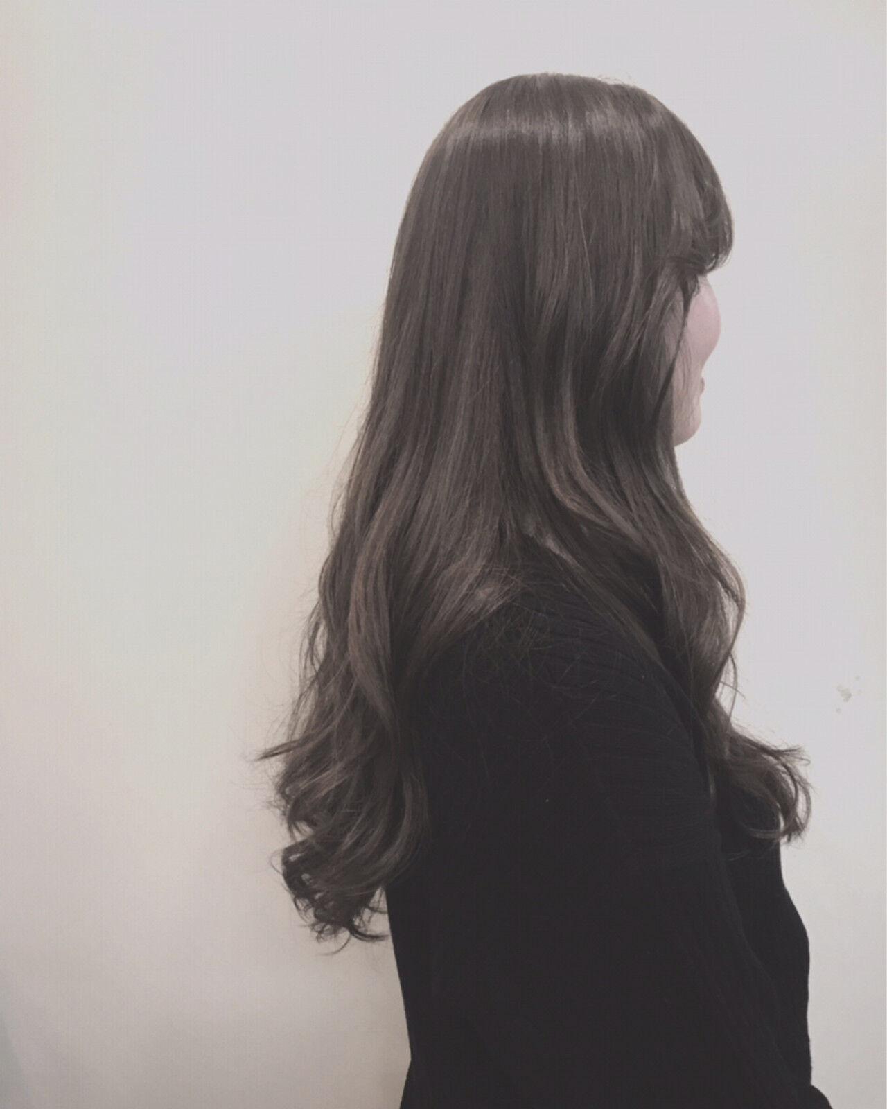 グレージュ 外国人風カラー オルチャン アッシュヘアスタイルや髪型の写真・画像