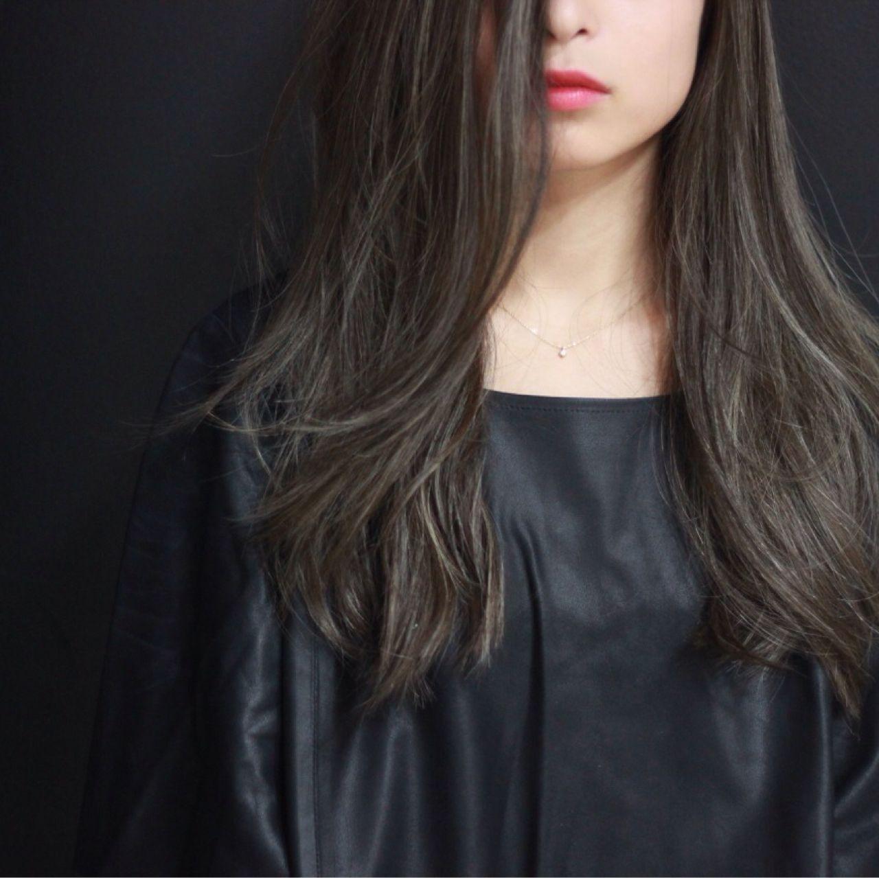 外国人風 モード 秋 アッシュヘアスタイルや髪型の写真・画像