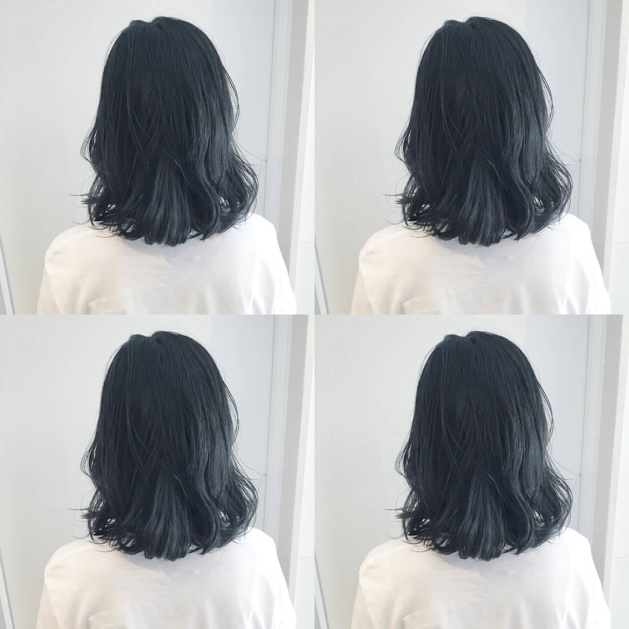 渋谷系 ナチュラル ミディアム オルチャンヘアスタイルや髪型の写真・画像