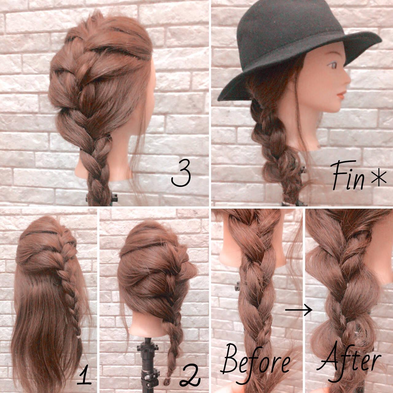 簡単ヘアアレンジ ロング エレガント 大人女子ヘアスタイルや髪型の写真・画像