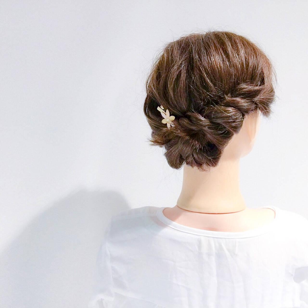 エレガント デート 結婚式 簡単ヘアアレンジヘアスタイルや髪型の写真・画像