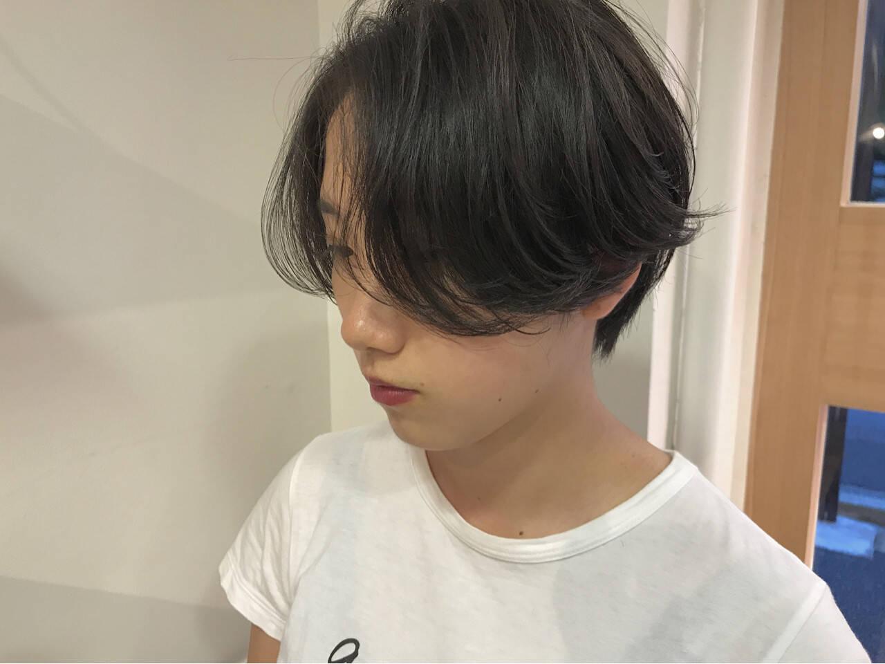 ナチュラル ショート 秋 黒髪ヘアスタイルや髪型の写真・画像
