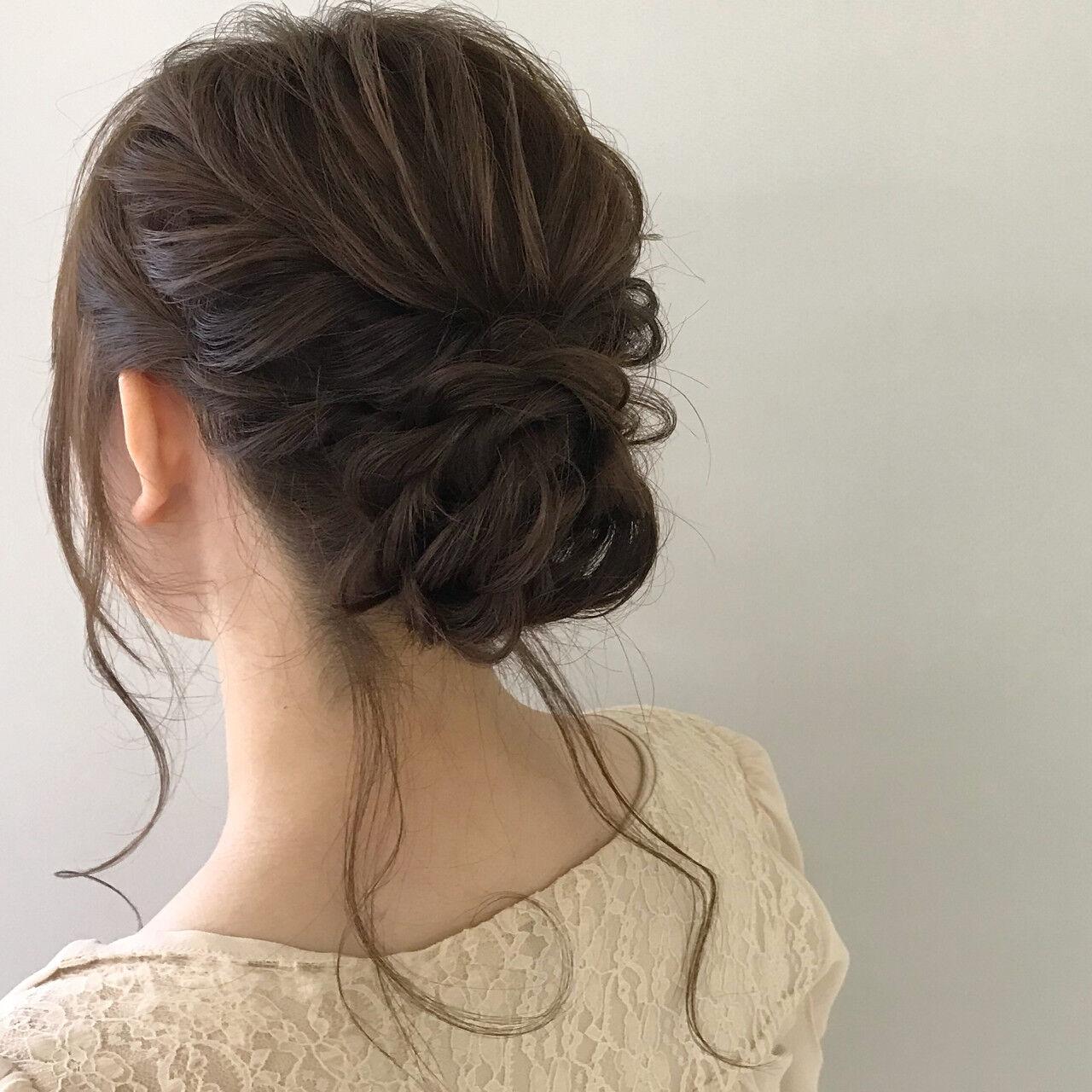 デート 結婚式 パーティ ヘアアレンジヘアスタイルや髪型の写真・画像