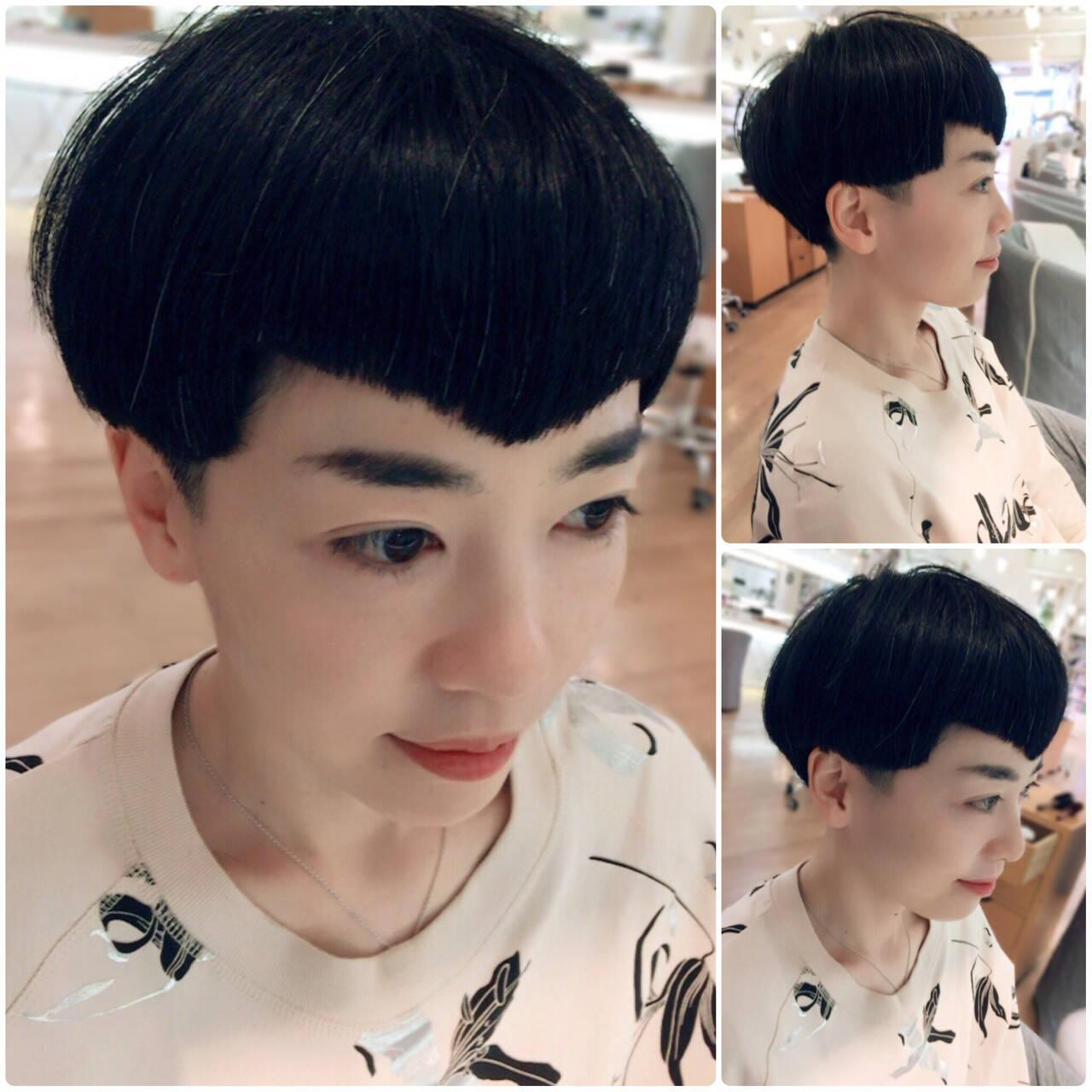 坊主 ショート モード 大人女子ヘアスタイルや髪型の写真・画像