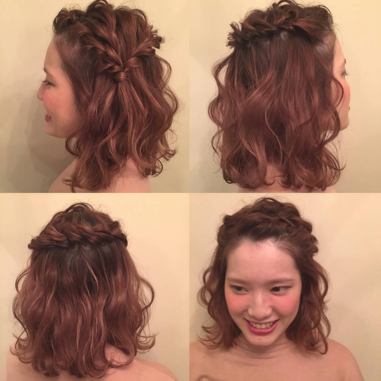 ヘアアレンジ ボブヘアスタイルや髪型の写真・画像
