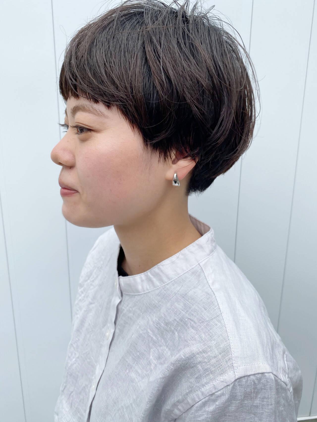 マッシュ ミニボブ ベリーショート マッシュショートヘアスタイルや髪型の写真・画像