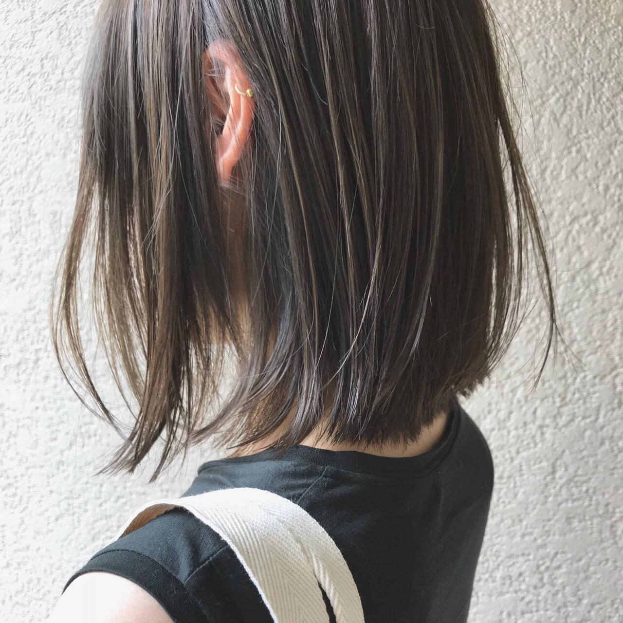 スポーツ ふわふわ 透明感 ボブヘアスタイルや髪型の写真・画像