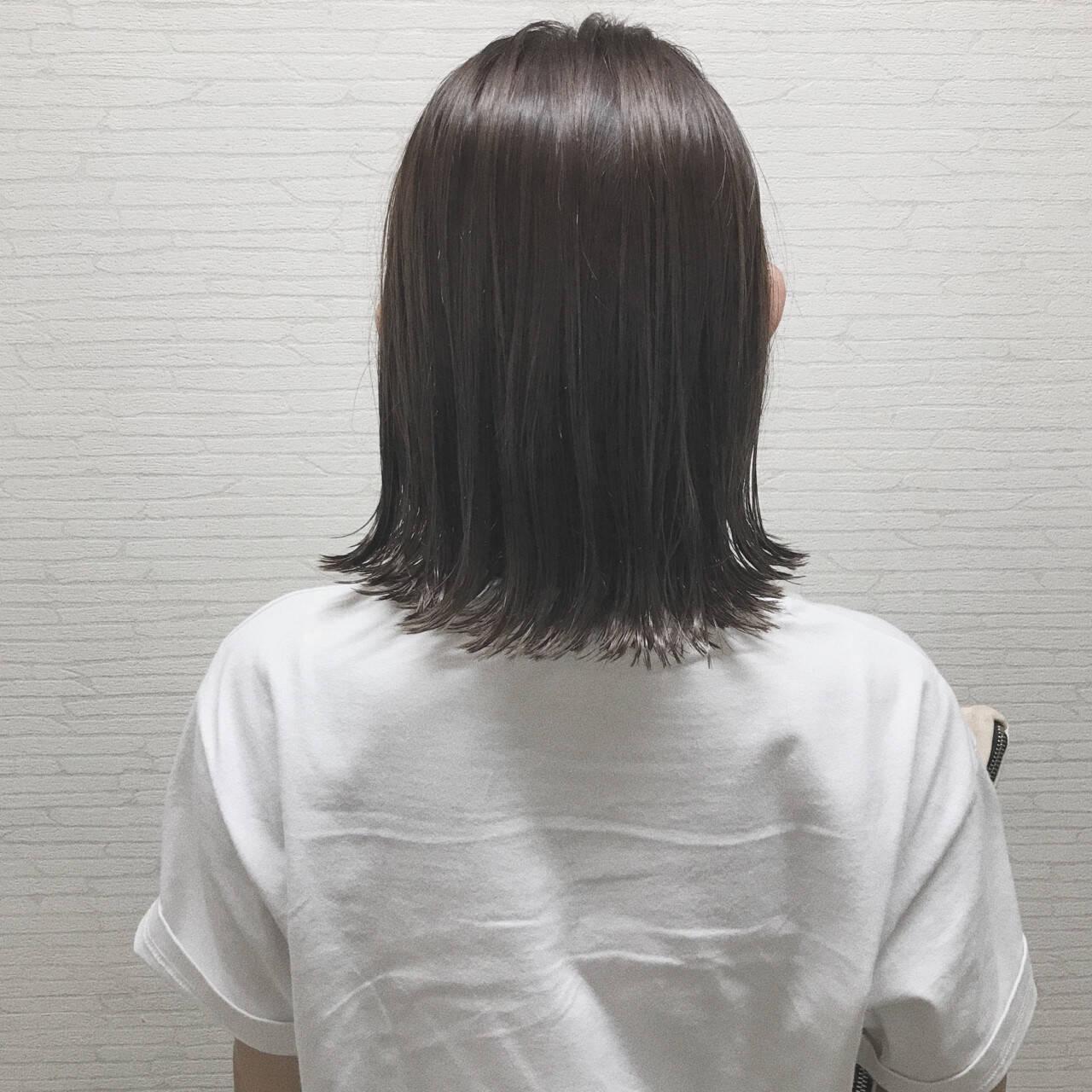 ナチュラル ボブ 外国人風カラー 切りっぱなしヘアスタイルや髪型の写真・画像
