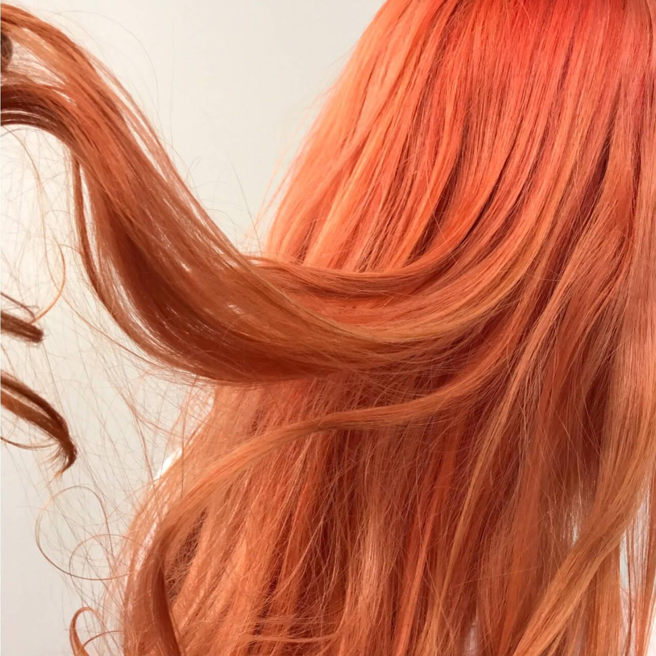 ストリート 冬 ロング 秋ヘアスタイルや髪型の写真・画像
