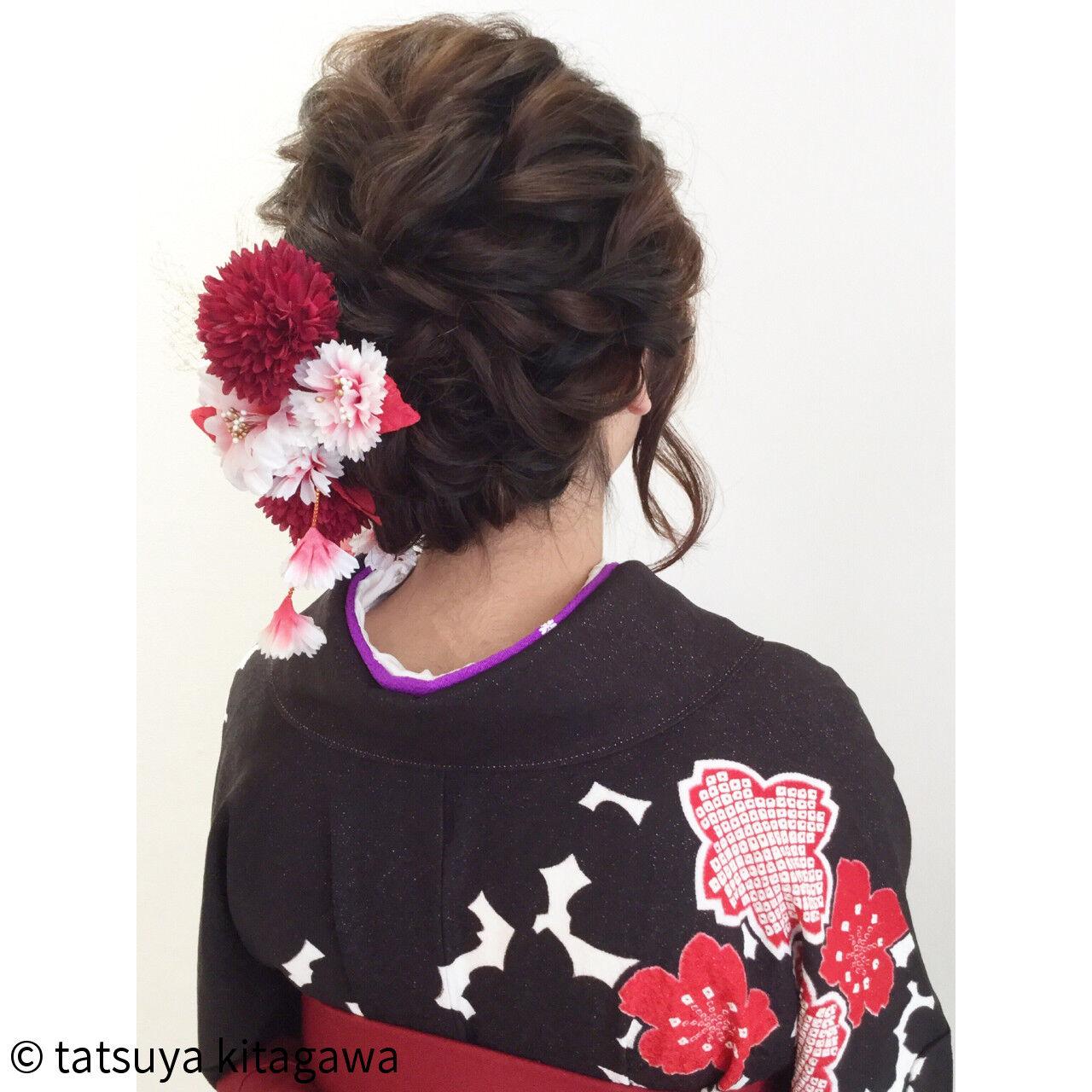 袴 ゆるふわ アッシュ 花嫁ヘアスタイルや髪型の写真・画像