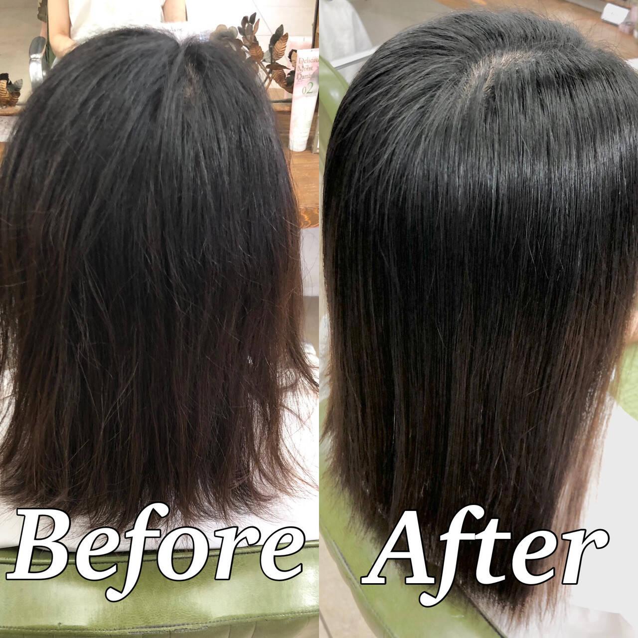 ナチュラル 髪質改善 ツヤ髪 美髪ヘアスタイルや髪型の写真・画像