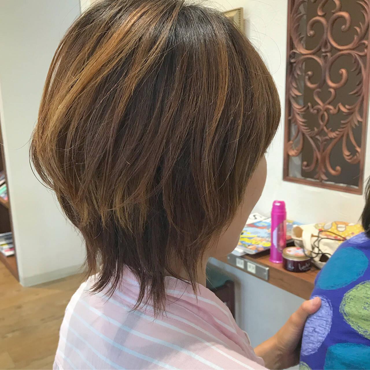 マッシュ ボブ マッシュヘア マッシュウルフヘアスタイルや髪型の写真・画像