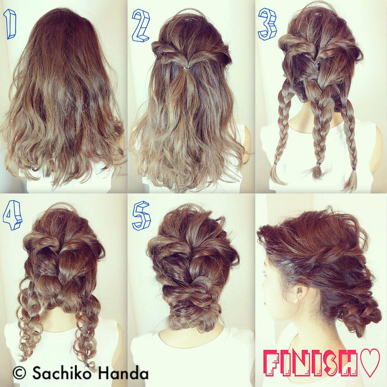 三つ編み モード 時短 簡単ヘアアレンジヘアスタイルや髪型の写真・画像
