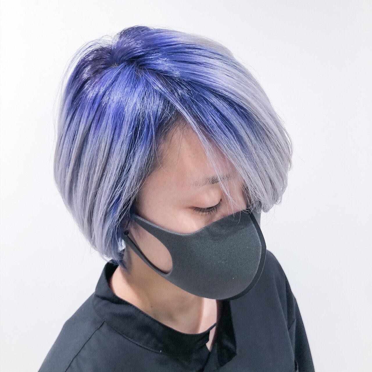 ブリーチカラー ブリーチ ボブ ブリーチオンカラーヘアスタイルや髪型の写真・画像