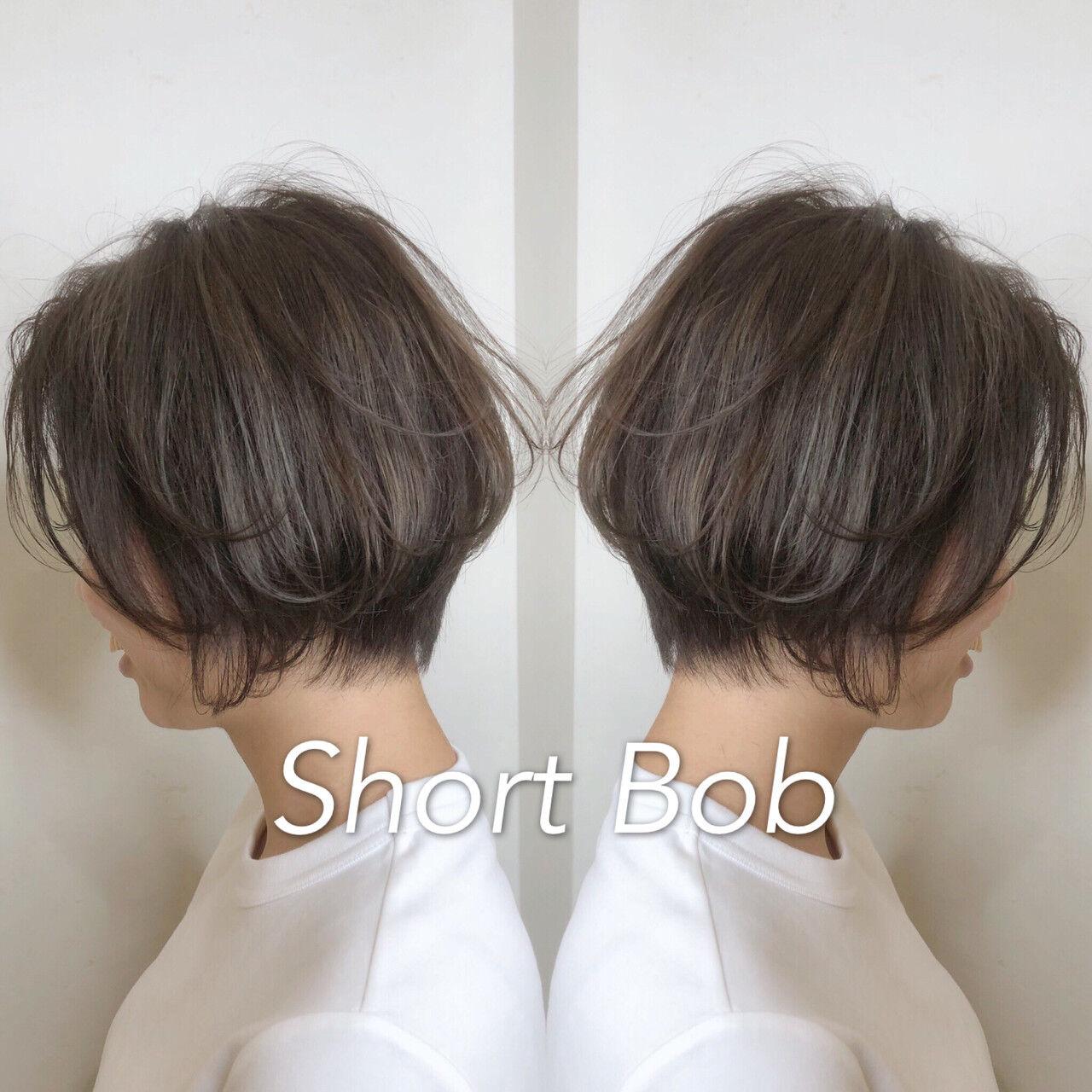 小顔ショート ガーリー ハンサムショート デートヘアスタイルや髪型の写真・画像