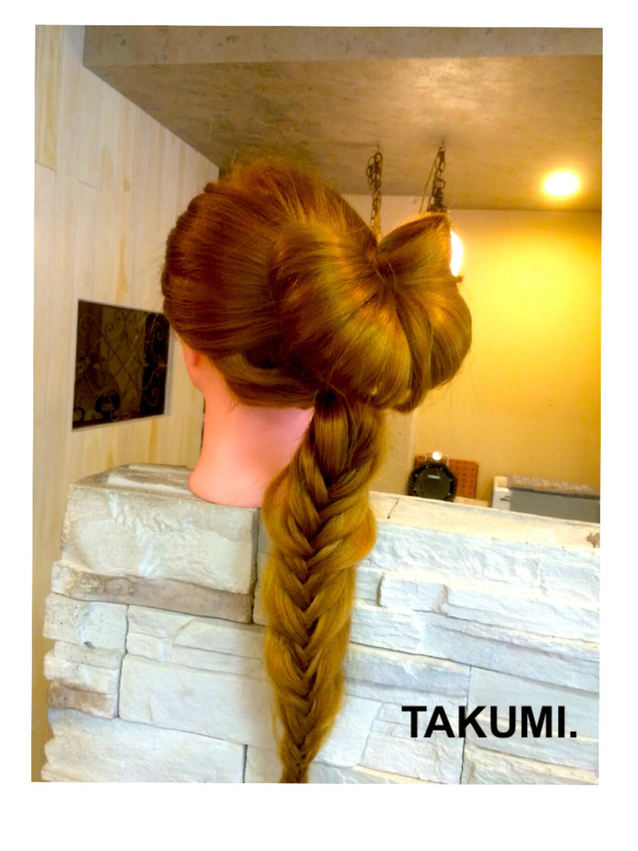 外国人風 編み込み ロング ヘアアレンジヘアスタイルや髪型の写真・画像