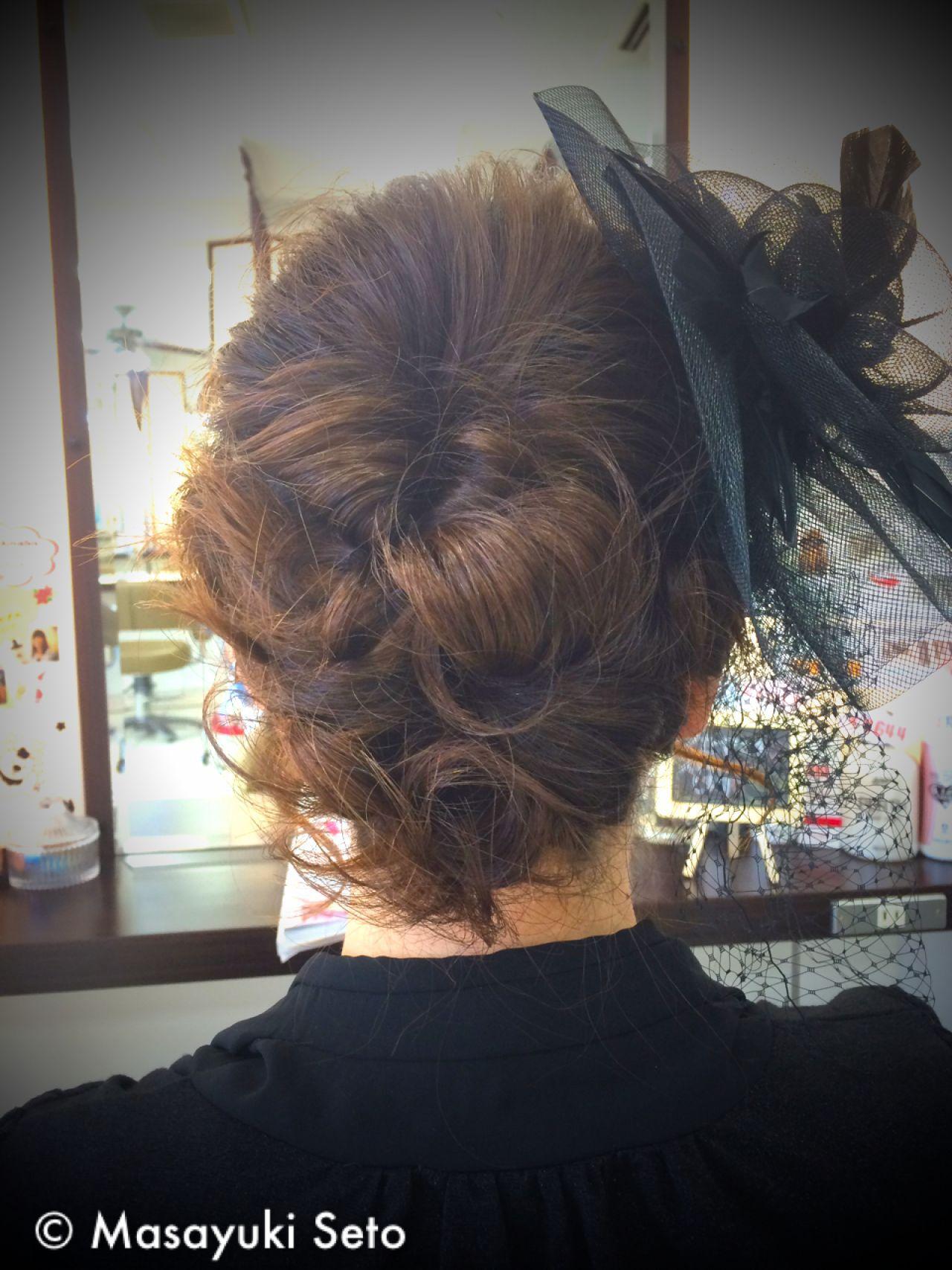 コンサバ ヘアアレンジ 結婚式 アップスタイルヘアスタイルや髪型の写真・画像