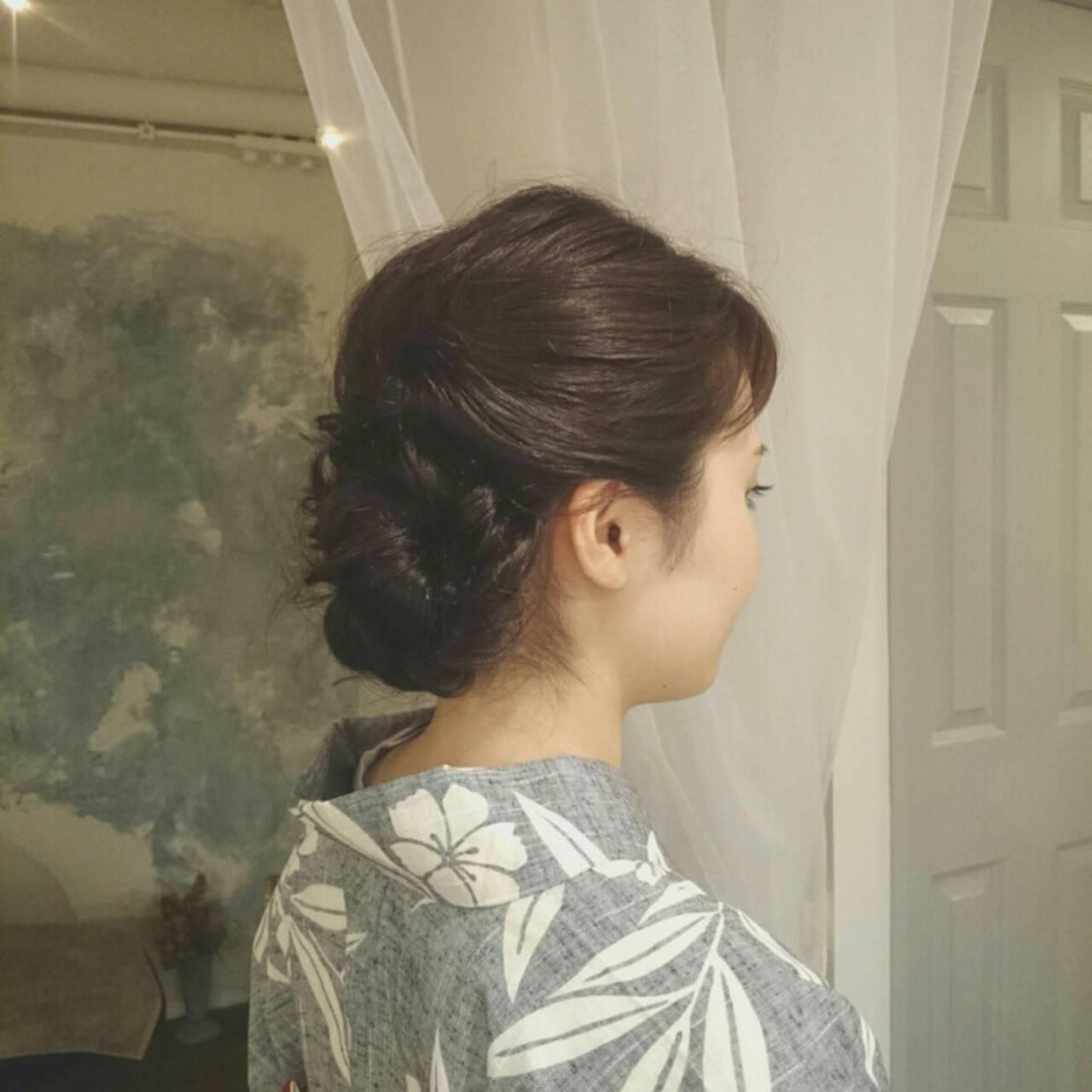 和装 ロング 夏 ヘアアレンジヘアスタイルや髪型の写真・画像