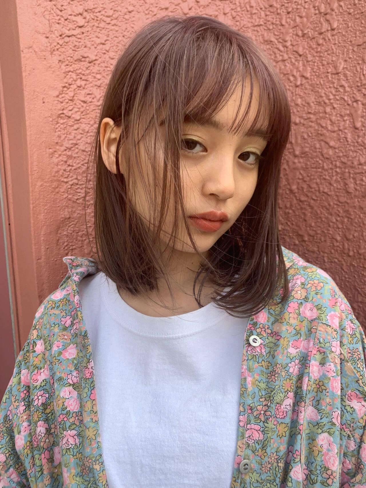 ヘアアレンジ ミディアム デート フェミニンヘアスタイルや髪型の写真・画像