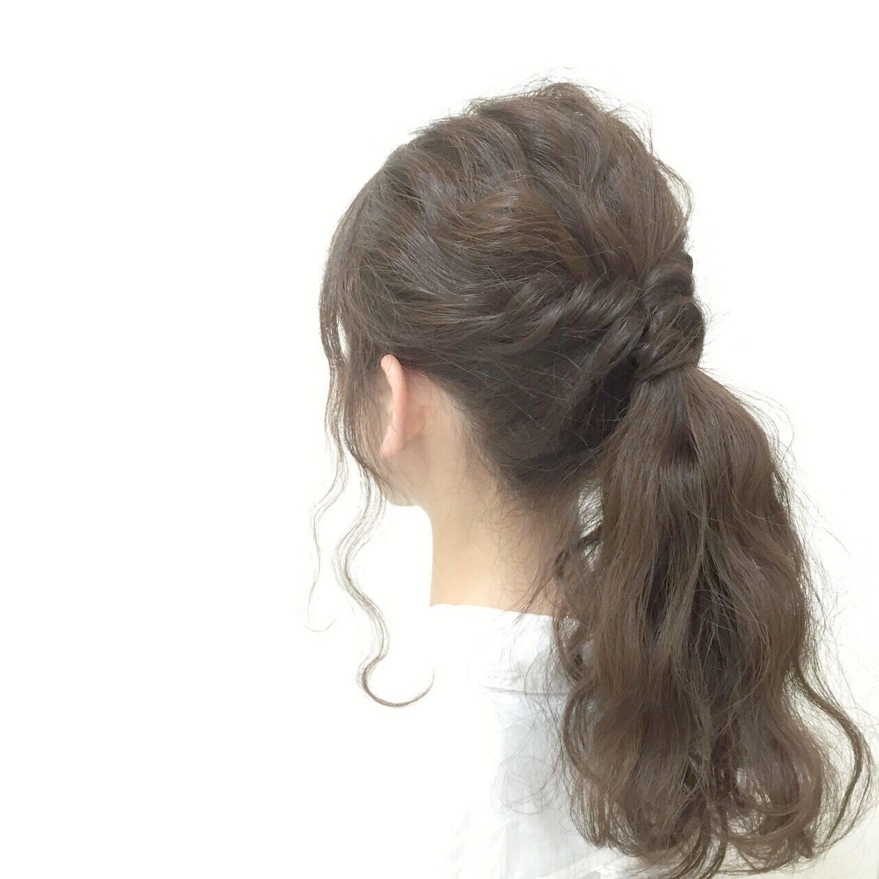 愛され ロング モテ髪 ポニーテールヘアスタイルや髪型の写真・画像