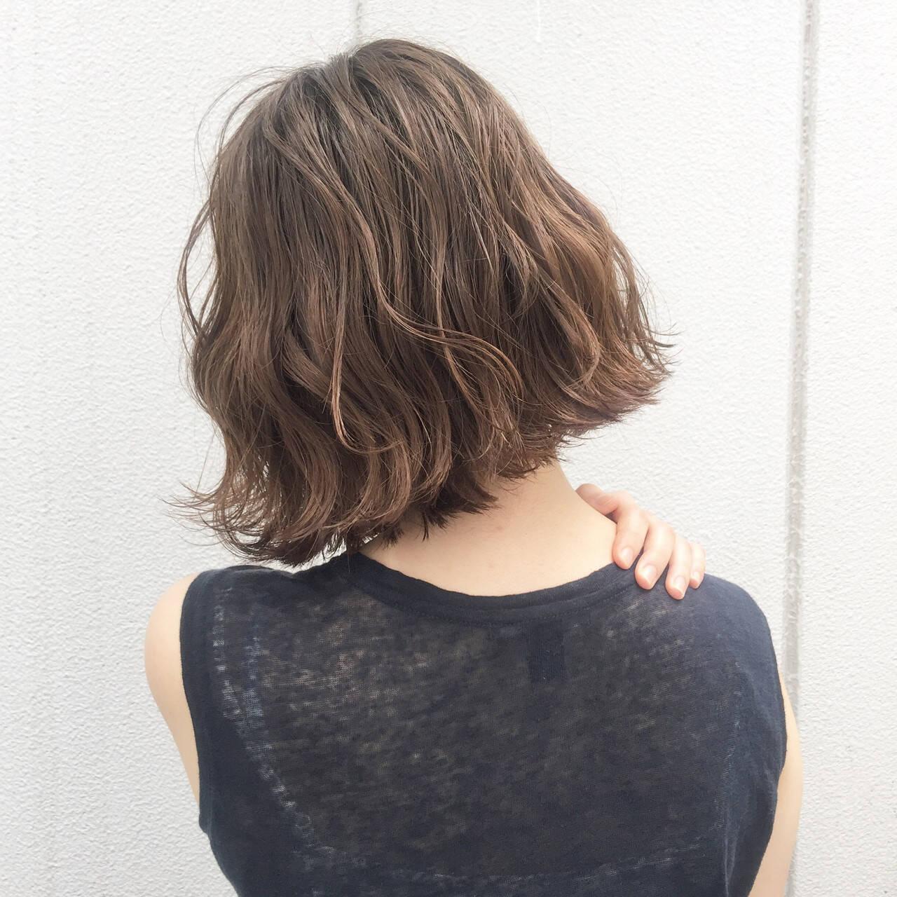 ヘアアレンジ ストリート ボブ 暗髪ヘアスタイルや髪型の写真・画像