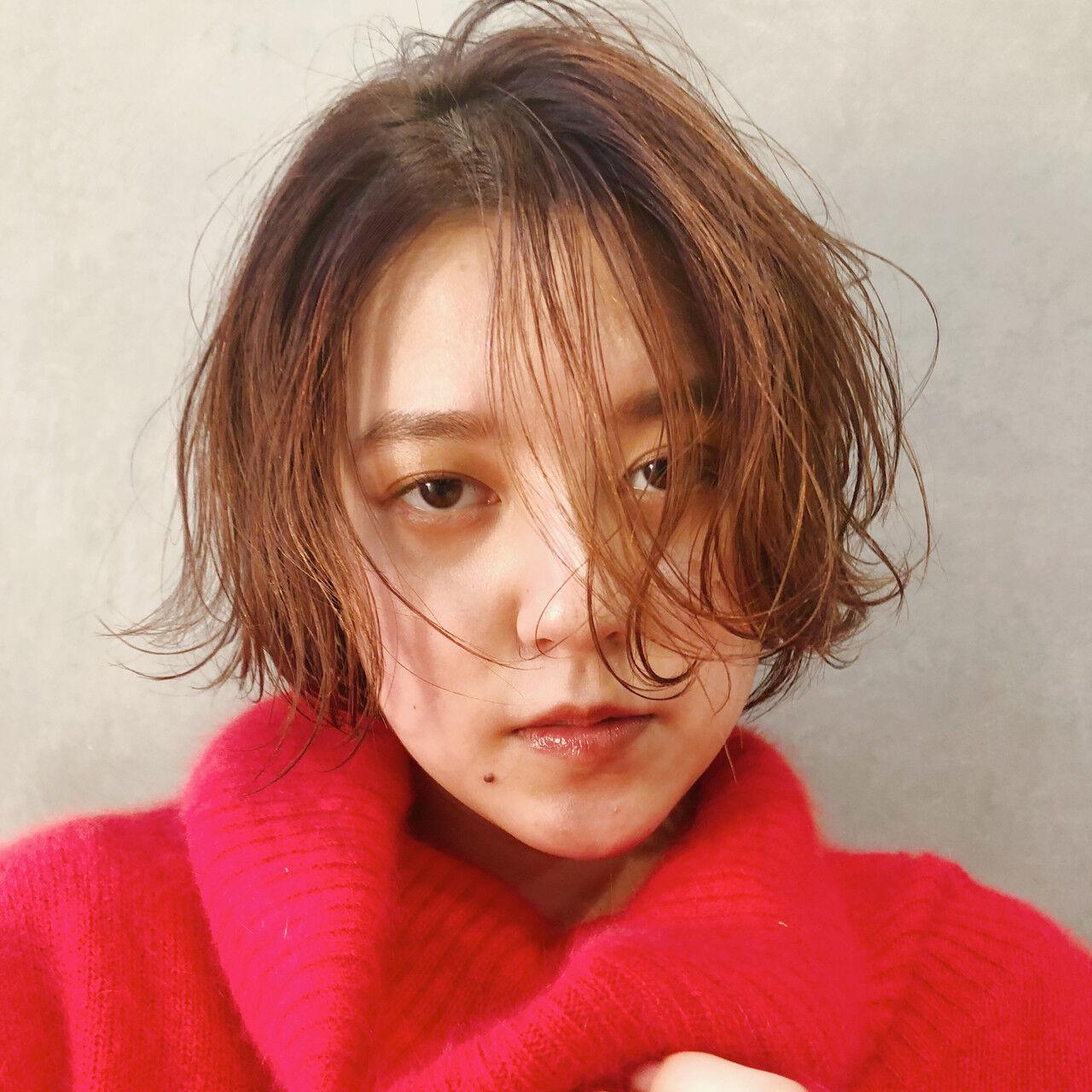 ハンサムショート ショートボブ ナチュラル ベリーショートヘアスタイルや髪型の写真・画像