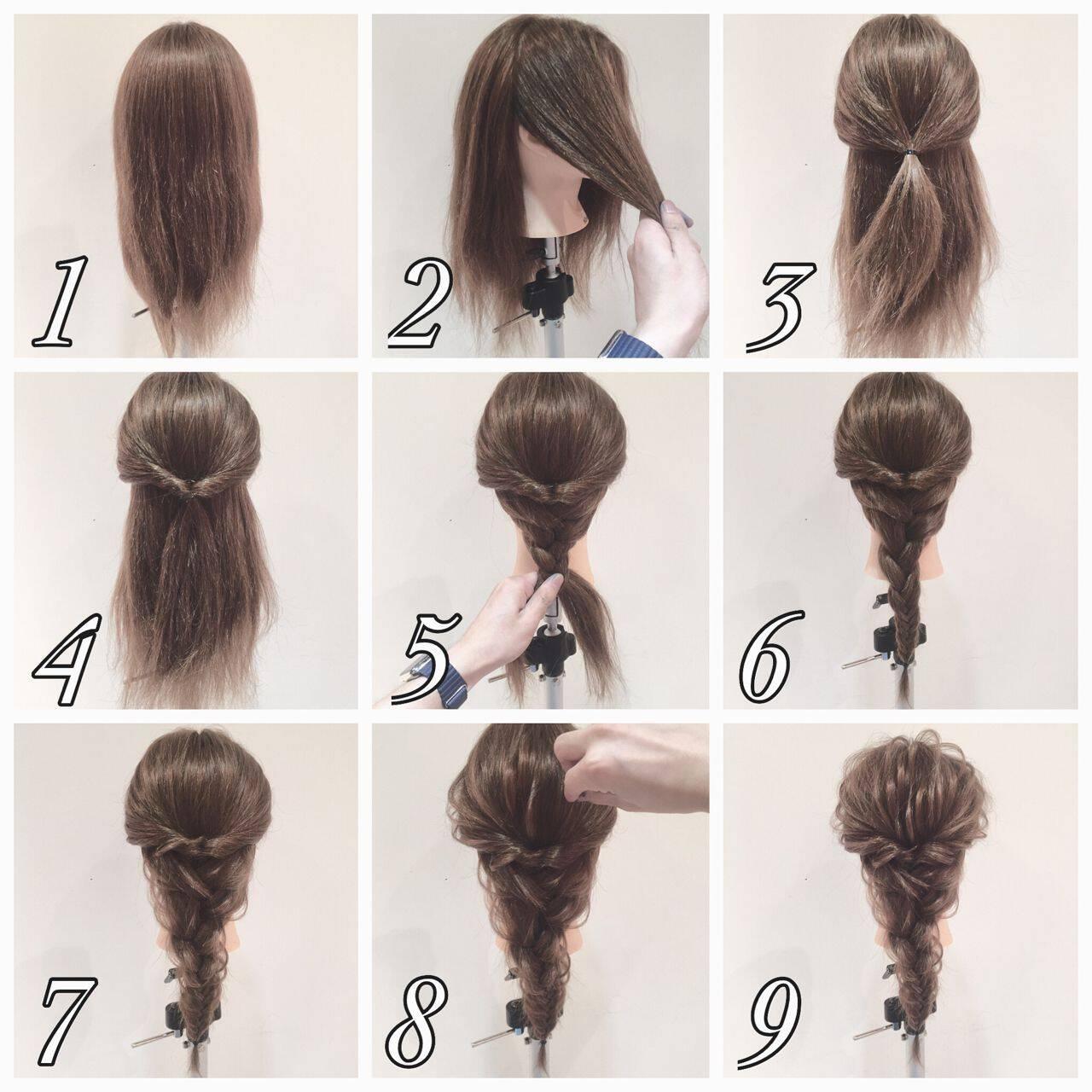 簡単ヘアアレンジ ショート ロング ヘアアレンジヘアスタイルや髪型の写真・画像