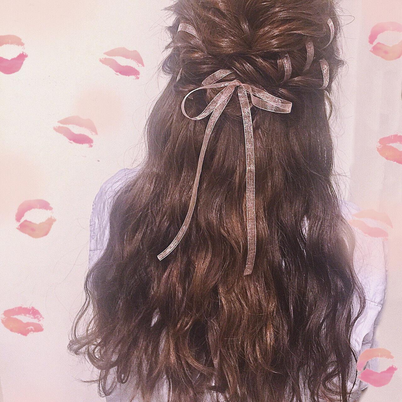 女子会 ヘアアレンジ 結婚式 デートヘアスタイルや髪型の写真・画像