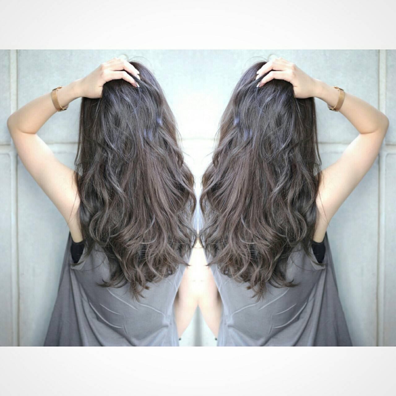 暗髪 コンサバ グレージュ ボブヘアスタイルや髪型の写真・画像