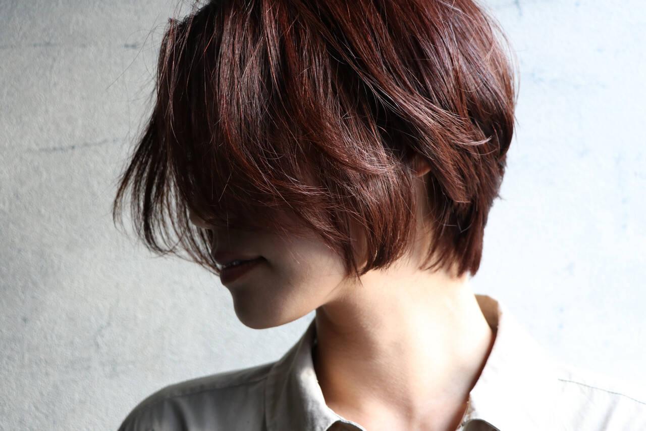 ナチュラル ショートヘア アンニュイほつれヘア ショートヘアスタイルや髪型の写真・画像