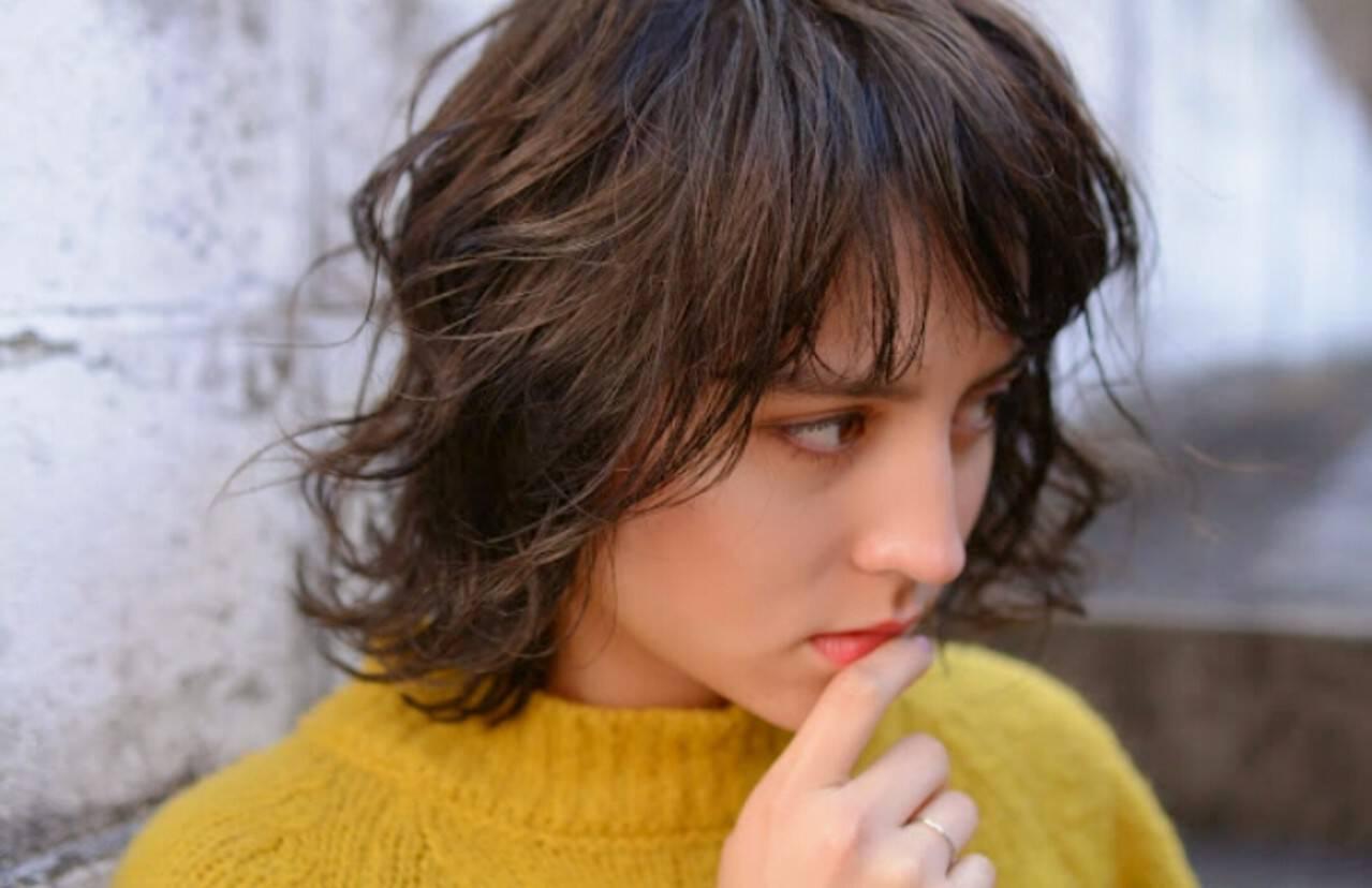 外国人風 ストリート 冬 大人女子ヘアスタイルや髪型の写真・画像