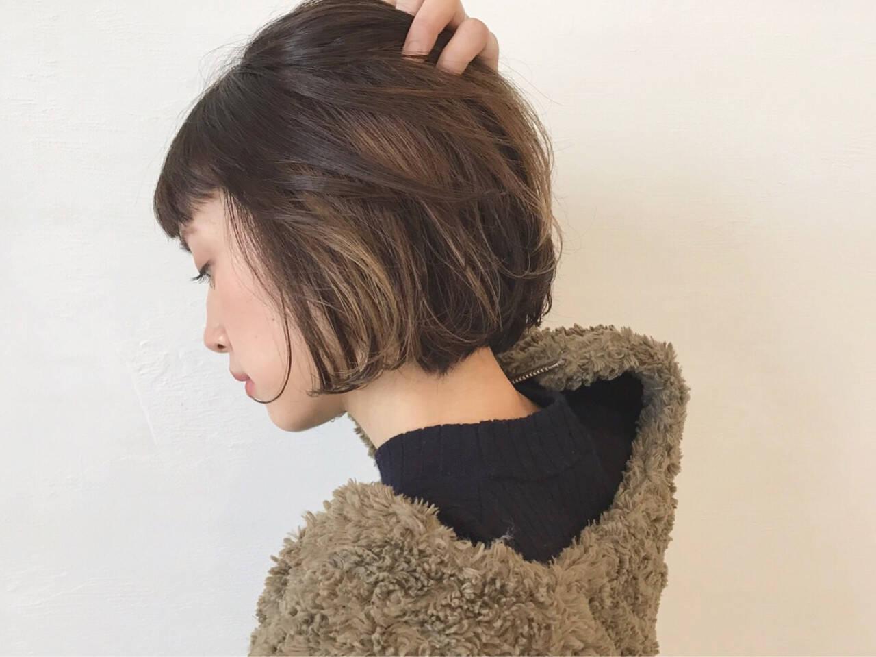 インナーカラー ストリート ハイライト アッシュヘアスタイルや髪型の写真・画像
