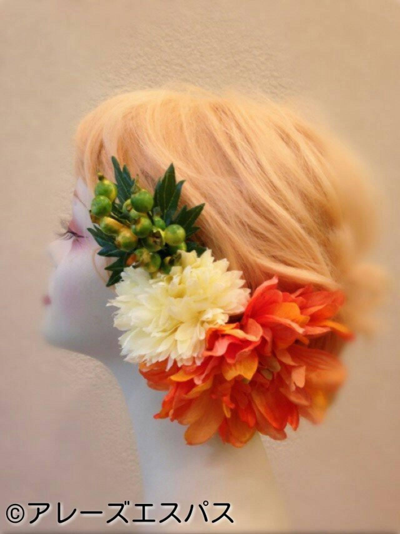 ヘアアレンジヘアスタイルや髪型の写真・画像