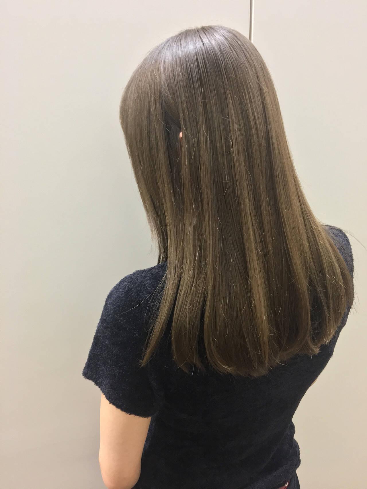 圧倒的透明感 髪質改善トリートメント 髪質改善カラー ロングヘアスタイルや髪型の写真・画像
