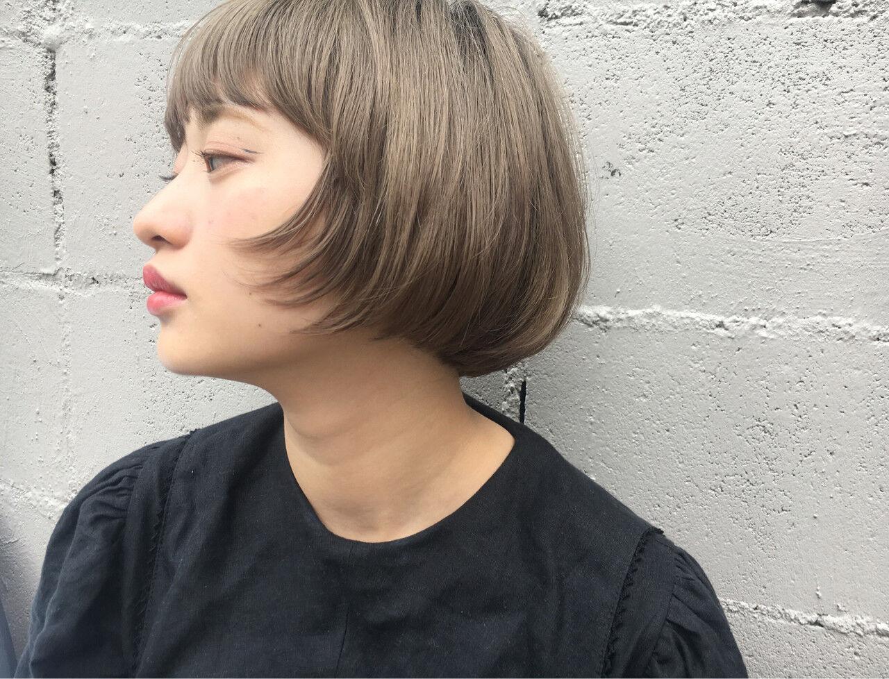 ショート モード ヘアアレンジ 透明感ヘアスタイルや髪型の写真・画像